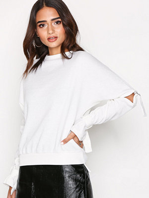 Missguided Cut Out Knitted Jumper Cream