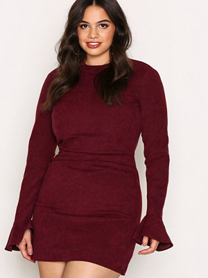 NLY Trend On And On Dress Burgundy