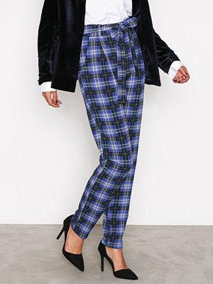 NLY Trend rutiga byxor Printed Tie Pants Grön/Rutig