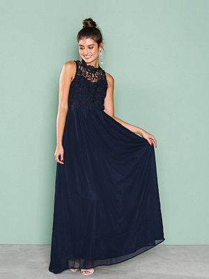 Ax Paris Upper Crochet Maxi Dress Navy