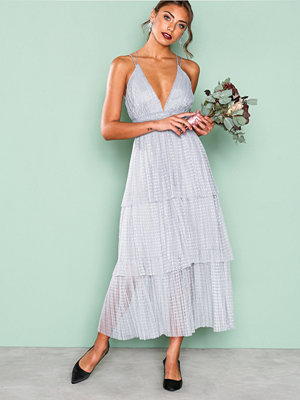 True Decadence Frill Sleeveless Dress Grey