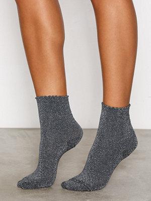 Strumpor - Pieces Pcsebby Glitter Long 2 Pack Socks Mörk Blå