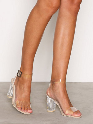 NLY Shoes Plastic Heel Sandal Transparent