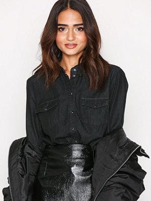 Only onlROCK It Reg Fit Black Dnm Shirtb Svart