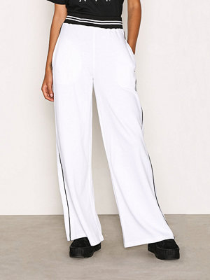Missguided vita byxor Wide Leg Sweat Pant White