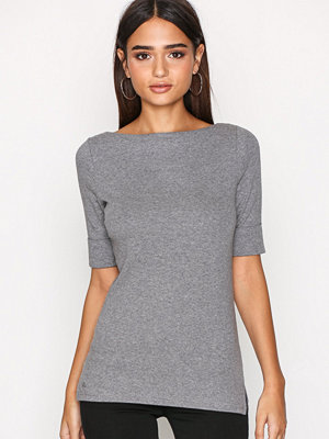 Lauren Ralph Lauren Judy Elbow Sleeve Knit Grey