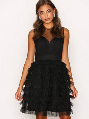 Little Mistress Mesh Detail Dress Black