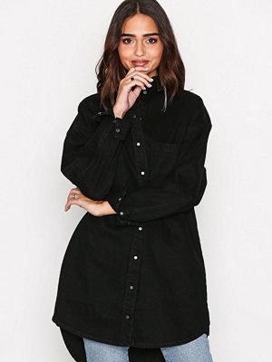 Selected Femme Sfluna Long Denim Shirt J Svart