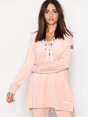 Street & luvtröjor - Odd Molly Get Along Hood Sweater Rose