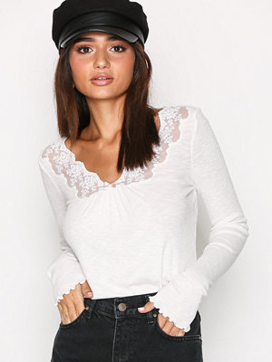 Odd Molly Rib Eye Long Sleeve Top Chalk