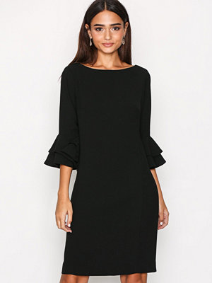 Lauren Ralph Lauren Valakis Elbow Sleeve Casual Dress Black