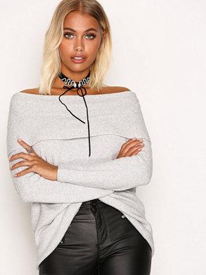 Only onlCELIA L/S Long Pullover Knt Vit
