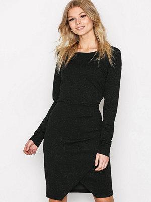 Vero Moda Vmbright L/S Bodycon Short Dress Bo Svart