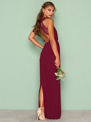 NLY Eve Maxi Crepe Gown Burgundy