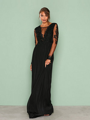 NLY Eve Mesh Lace Gown Svart