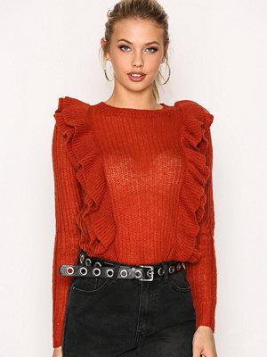 Y.a.s Yaslucia Ls Knit Pullover Mörk Röd
