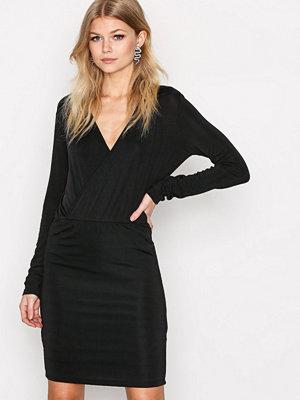 Vero Moda Vmjennie Ls Short Dress Svart