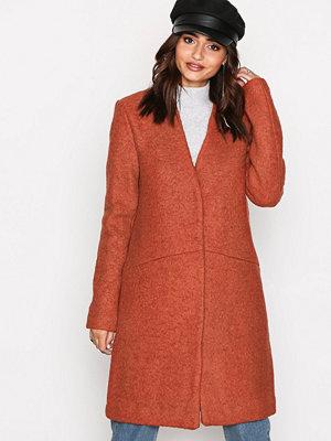 Vila Vitea Wool Boucle Jacket Pb Röd
