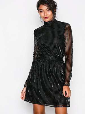 NLY Trend Sequin Flirt Dress Svart