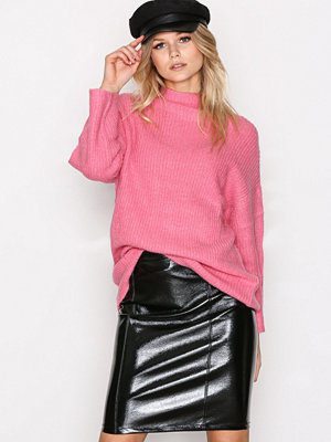 Only onlANN Faux Leather Midi Skirt Otw Svart