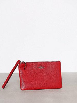 Coach röd kuvertväska Small Wristlet Silver/Red