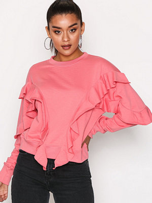 Missguided Frill Detail Sweat Pink