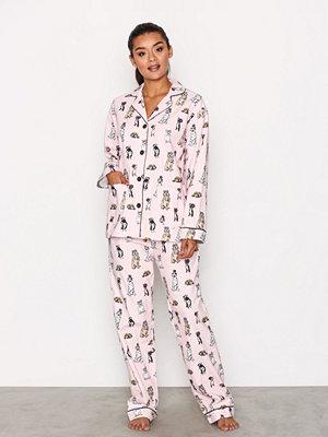 Pyjamas & myskläder - P-J Salvage Flannel PJ Set Pink
