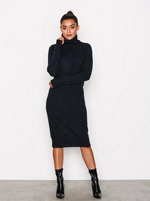 Object Collectors Item Objnete L/S Knit Dress .C Div Mörk Blå