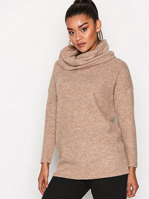 Only onlIDA L/S Long Pullover Knt Brun