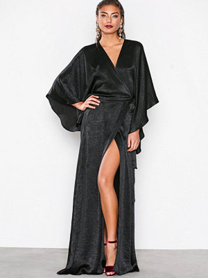 NLY Eve Kimono Sleeve Gown Svart