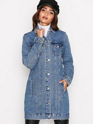 Jeansjackor - Vila Viturma Long Denim Jacket /1 Blå
