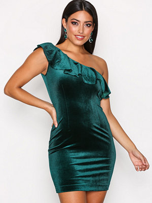 Only onlVEGA Oneshoulder Bodycon Dress W Mörk Grön