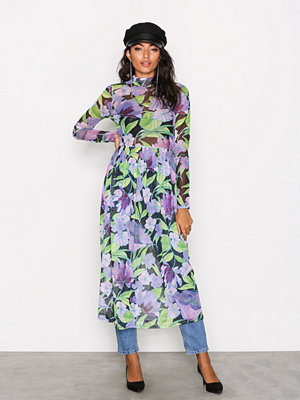 NLY Trend Print Mesh Dress Blommig