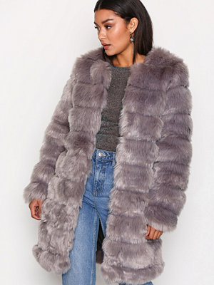 Y.a.s Yasfaux Fake Fur Jacket Grå