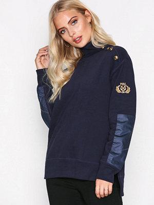 Toppar - Polo Ralph Lauren Button Long Sleeve Knit Shirt Navy