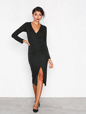 Honor Gold Jessica Midi Dress Black