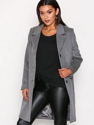Selected Femme Sfsasja Wool Coat Camp H Grå