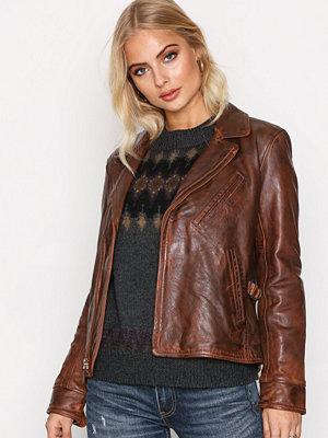 Skinnjackor - Polo Ralph Lauren Leather Jacket Burnished Brown