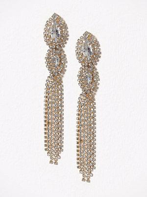 New Look örhängen 80s Tripl Stone Cupchain Gold