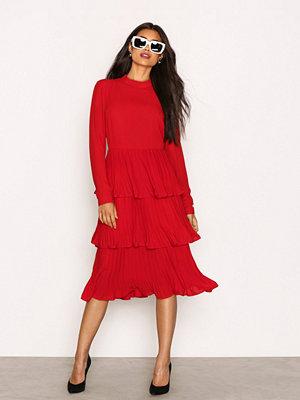 NLY Trend Party Frill Dress Röd