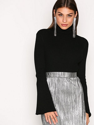 Only onlALMA L/S Bell Sleeve Pullover Kn Svart