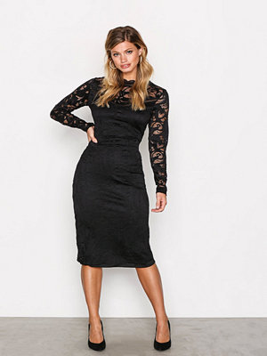 Vila Vistasia L/S Lace Dress Svart