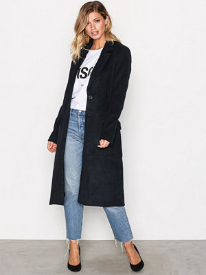 Only onlLOUISE Oversized Long Wool Coat Mörk Blå