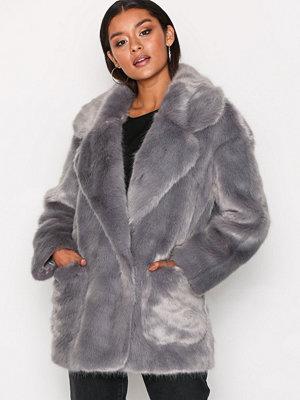 Glamorous Andrea Faux Fur Jacket Grey