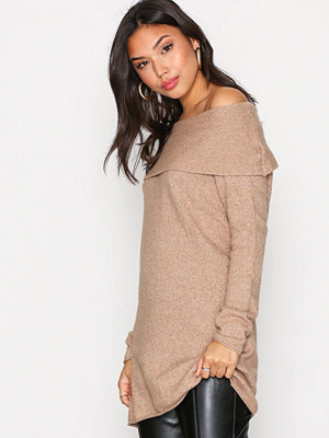 Only onlCELIA L/S Long Pullover Knt Brun