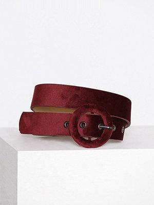 Bälten & skärp - Pieces Pcjohanna Waist Belt Mörk Röd