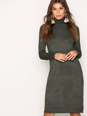 Only onlAIDA L/S Rollneck Dress Knt Mörk Grå