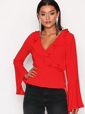 Glamorous Ellen Chiffon Blouse Red