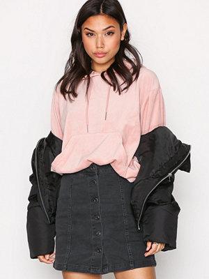 New Look A-Line ButtonThru Skirt Black