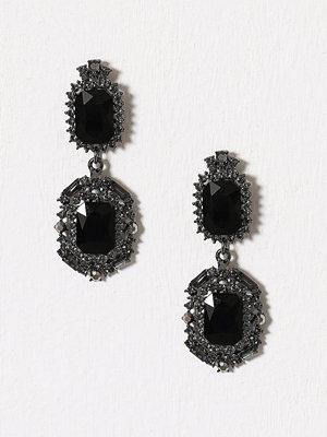 Pieces örhängen Pcraima Earrings Mörk Grå